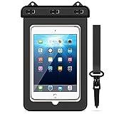 Yokata wasserdichte Tasche Universal Schutztasche Wasserfeste Taschen Transparent Schutzhülle für Tablet iPad, iPhone 6/6S/7/8/X, Samsung Galaxy S6/S7/S8/S9/S8 Plus/S9 Plus usw. bis 8 Zoll - Schwarz