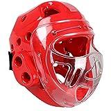GCDN Kopfschutz für Boxen, Kampfsport-Training, Kopfschutz mit klarem Gesichtsschutz, Kopfbedeckung...