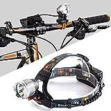 Poppy Dual-Use-2000 Lumen Kopflampe mit 2X CREE XM-L2 LED, leistungsfähigen wiederaufladbare Vorder...