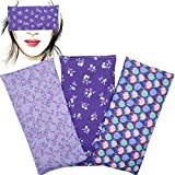 Augenkissen 'Pack 3 - Lila's'   Lavendel Samen und Reis   Yoga, Meditation, Entspannung, für Ihre...