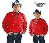 Running Bear Rotes Country Westernhemd John Wayne Größe XL - Cowboyhemd Wild West Line Dance...