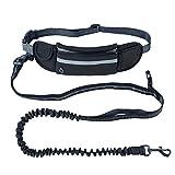 Alihoo Joggingleine Joggingleine mit Taillengürtel inkl. Tasche für kleine und mittelgroße Hunde...