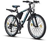Licorne Bike Effect (Schwarz/Blau) 26 Zoll Mountainbike, MTB, geeignet ab 150 cm, Shimano 21...