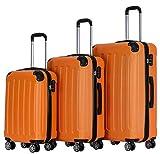 BEIBYE Zwillingsrollen Hardcase Reisekoffer Koffer Trolleys Hartschale in XL-L-M in 14 Farben...