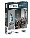 Clementoni 39305.3 - Trittico, 3x500T New York, Klassische Puzzle