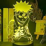 Anime Naruto Uzumaki führte Nachtlicht Team 7 Sasuke Kakashi Hatake Kinder Schlafzimmer Nachtlicht...