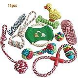 Athyior Hündchen Seilspielzeug 11 Stück Haustier Zahnreinigung Spielzeug Langlebige Baumwolle...