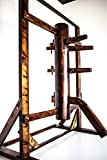 Wing Chun Wooden Dummy with Frame and Legs Walnut Farbe