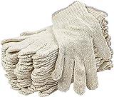 24 Stück beige Strick-Handschuhe 25,4 cm Waschbarer Handschuh mit elastischem Strickband....