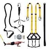 Clothink Schlingentrainer Sling Trainer Set mit Türanker Einstellbar Fitness Zuhause Suspension -...