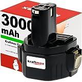 Kraftmax 12V Akku für MAKITA - 3000mAh / Ni-MH - 1220 / 1222 / 1230 / 1233 / ...