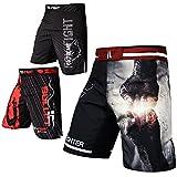 FOX-FIGHT Fist Punch MMA Fight Hosen Short Muay Thai Kickboxen UFC Kampfsport Boxen Training L