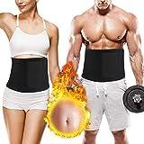 Taillen Trimmer mit Handytasche, Damen und Herren, Verstellbarer Bauchweggürtel Fitnessgürtel...