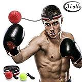 GEYUEYA Home Boxen Training Ball, Reflex Fightball, Punch Boxing Ball mit Kopfband,Reflex Speed...