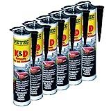 6x PETEC K&D Karosserie Klebe- und Dichtmasse Klebemasse Dichtmasse Karosseriekleber Klebstoff Kleber Kartusche 310ml schwarz