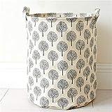 dokeho Zusammenklappbarer Wäschekorb, zusammenklappbarer Aufbewahrungskorb für Kleidungsspielzeug,...