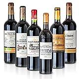 Feinste Weine - Weinselektion 6er Bordeaux Probierpaket (6 * 0,75l) - Frankreich-Probierset mit trockenen Rotweinen