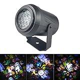 Luccase LED Projektor Licht ABS Schwarz Gehäuse LED Lampe wasserdichte Schneesicher Bühne Lichter...