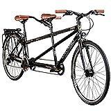 Galano Tandem Fahrrad 700c Berlin 28 Zoll Trekkingrad 21 Gang Shimano Touring (schwarz, 51/46 cm)