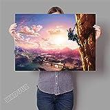 XWArtpic 3D Online Spiel Poster Für kinderzimmer Schlafzimmer Dekoration wandkunst HD Kindergarten Kinderzimmer Cartoon Movie leinwand malerei 60 * 80 cm