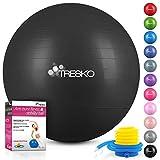 TRESKO® Anti-Burst Gymnastikball 55cm 65cm 75cm 85cm   Sitzball   Yogaball   300 kg   mit Luftpumpe...