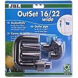 JBL - Outset Wide 16/22 Wasserrücklauf-Set mit Breitstrahlrohr für Außenfilter von Aquarien mit...
