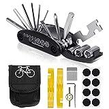 VICKSONGS Fahrradwerkzeug mit Schlauch Reparatur Set [16er Set/240g] Fahrrad Reparatur Set Reparatur...