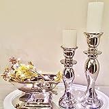 DRULINE Kerzenleuchter Kerzenhalter Geschwungen 2er Set Größe, 32/38cm Antik Kerzenständer...