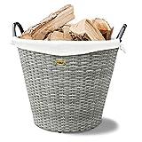 HABAU Feuerholzkorb mit Metallrahmen, grau, 54 x 54 x 44 cm 2724