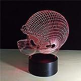 XKALXO 3D Nachtlicht Led 16 Farbe Licht Fußball Usb Neuheit Pittsburgh Fußball Helm Nachtlicht...