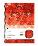 LANDRE 100050064 Collegeblock College 10er Pack A4 80 Blatt kariert mit Rand links und rechts 70 g/m² gelocht Schreibblock Notizblock Briefblock Schulblock