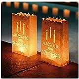 Ecooe 10 Stk. Lichtertüten für Teelichter Kerzen Alles Gute zum Geburtstag Candle Bags für...