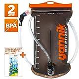 YANNIK Trinksystem 2L mit Beissventil + Reinigungskit | TPU Wasserblase | BPA-frei Trinkblase...
