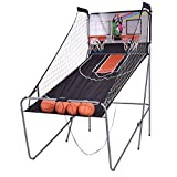 GOPLUS Basketball-Schießmaschine, Basketballständer inkl. 4 Basketbälle und Pumpe, Basketballkorb...