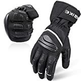 INBIKE Motorradhandschuhe Herren Winter Handschuhe Winddicht Wasserdicht mit 3M Thinsulate und HIPPRA Membran Schwarz M