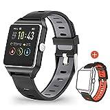 Smartwatch GPS Sportuhr, Fitness Armbanduhr 1,3 Zoll Touchscreen Laufuhr GPS Fitness Smartwatch mit...