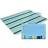ZJW Faltbare tragbare Strandmatte mit Griff-Picknick-Decke wasserfester Unterlage im Freien für...