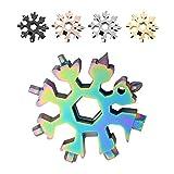 Saker 18-in-1 Edelstahl Schneeflocken Multifunktionswerkzeug Regenbogenfarbe