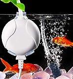 ELETEK Sauerstoffpumpe für Aquarium Mini Leise Aquarium Luftpumpe für Fischbecken und Nanoaquarien...