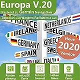 Europa V.20 - Profi Outdoor Topo Karte - Passend für Garmin Montana 650, Montana 650t, Montana 680,...