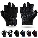 Fitgriff® Trainingshandschuhe für Damen und Herren - Fitness Handschuhe ohne Handgelenkstütze...