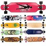 FunTomia Longboard Skateboard Drop Through Cruiser Komplettboard mit Mach1 High Speed Kugellager...