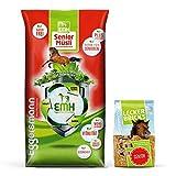 Eggersmann EMH Senior Müsli + Lecker Bricks Senior - Ideale Versorgung für ältere Pferde - 20 kg...