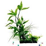 tianxiangjjeu Kunstpflanze für Aquarien, Grün