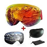 Skibrille, mit Beschlag und UV-Schutz, für Wintersportarten, Snowboardbrille mit austauschbarer,...