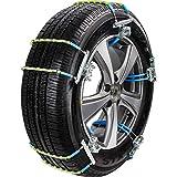 HHXX Reifen Anti-Rutsch-Stahlkette, Ketten Schnee Schlamm Auto-Sicherheits-Reifen for 165mm-245mm...