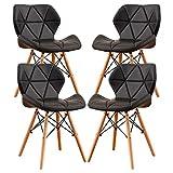 MIFI 4er Set Esszimmerstühle Moderne Gepolsterte Esszimmer, Eiffel-Stil Esszimmerstühle aus Holz,...