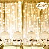 Lighting EVER LED Lichterkettenvorhang, 8 Modi 3m x 6m 594 LEDs Lichterkette, IP44 Sternen...