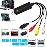 DIWUER USB 2.0 Audio Video Konverter, Video Grabber Neue Software Mac Windows 10 fähig VHS VCR DVD...