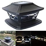Solarpfostenkappen Leuchten Außen 4x4 solarbetriebene Cap-Lampe for Holz-Zaun Patio Deck-...